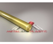 Brass Round Bar Rod 22mm x 880mm